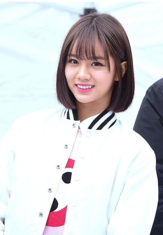 korean side swept bangs