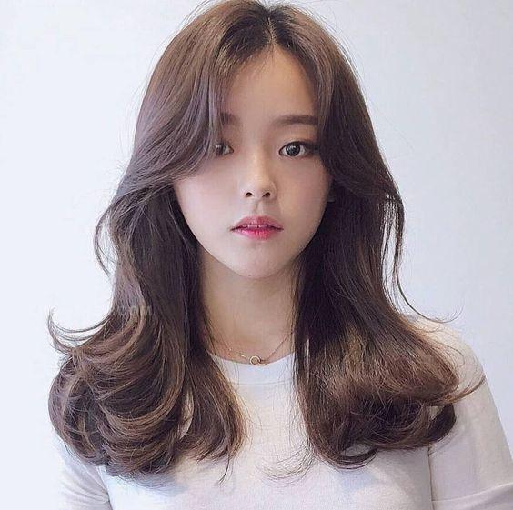 see through bangs korean style