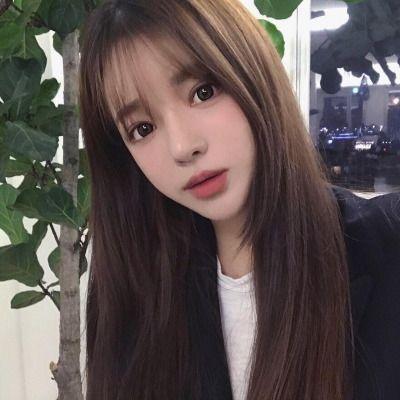 korean long side bangs