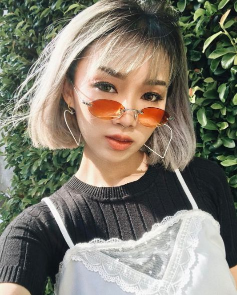 korean bangs hairstyle for round face